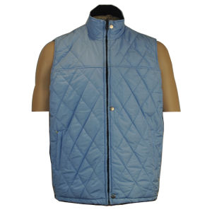 2-in -1 Mens Black Oxford PU Coating Sleeveless Quilted Work Vest Padded Vest pictures & photos