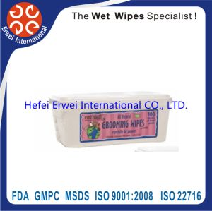 Disposable Pet Bathing Cleaning Wet Towel Santibacterial Pet Wipes pictures & photos