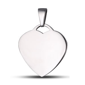 Engrave Logo Heart Steel Pendant pictures & photos