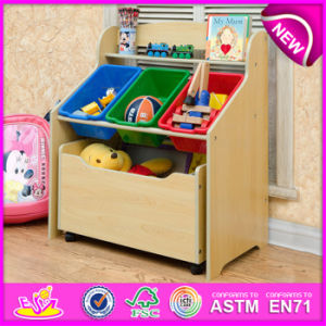 MDF Toy Wooden Storage Box with Plastic Box, Household Items Wholesale Colourful Wooden Storage Box W08c132 pictures & photos