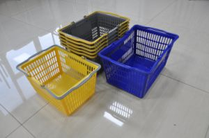 Great Quality Supermarket Plastic Basket pictures & photos