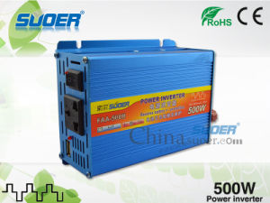 Solar Power Inverter 500W Modified Sine Wave Power Inverter 24V to 220V Auto Power Inverter for Cars with Good Quality (FAA-500B) pictures & photos