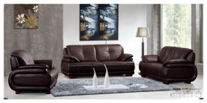 Genuine Leather Leisure Sofa Set pictures & photos