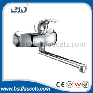 Wall Mounted Brass Single Lever Kitchen Water Tap pictures & photos