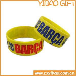 Customized Silicone Wristband with Ink Filled Debossed Logo (YB-SW-09) pictures & photos