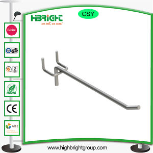 Metal Double Wire Pegboard Hook with Price Strip pictures & photos