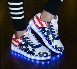 New Fashion 7 Color LED Shoes/Light up Shoes/Dancing Shoes with USB Charge pictures & photos