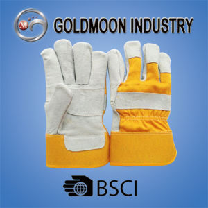 10.5′′ Cow Split Leather Safety Welding Work Glove Patch Palm pictures & photos