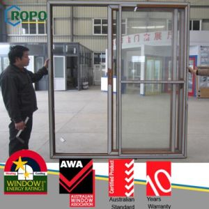 Wood Color Australian Standard PVC Sliding Door (RP131) pictures & photos