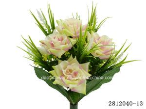 Artificial/Plastic/Silk Flower Rose Bush (2812040-13) pictures & photos