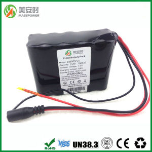 Power Capacity 13ah 7.4V 18650 Li-ion Battery Pack pictures & photos