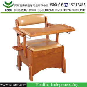 Rehabilitation Therapy Supplies Handicapped Commode Wheelchair for Sale pictures & photos