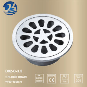 Stainless Steel Sanitary Accessories Round Basin Drainage (D02-C-3.5′′)