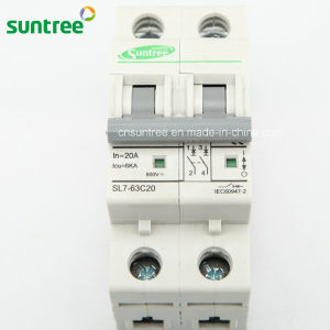 2 Pole DC800V DC Solar 63 AMP Circuit Breaker pictures & photos