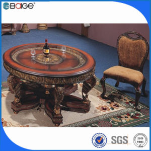 Antique Round Top Coffee Table Set