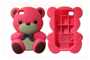 Cartoon Bear Shaped Silicone Case of Phone Silicone Phone Case Silicone Phone Cover