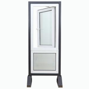 Plastic Profile PVC/UPVC Casement Double Glass Swing Window pictures & photos