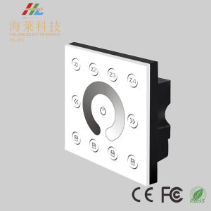 12-24V DC Fashionable Multiple Zone Dim DMX512 4CH LED Touch Panel Controller pictures & photos