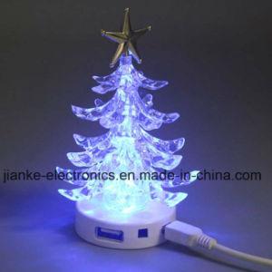 LED Flashing USB Hub Christmas Tree with Logo Print (5006) pictures & photos