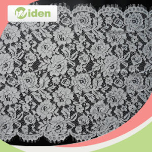 58cm Popular Nylon Flower Design Swiss Trimming Lace for Bridal pictures & photos