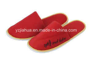 One Color Velour EVA Hotel Slipper pictures & photos
