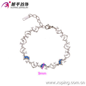 Xuping Fashion Rhodium Color Dolphin Inlayed Stones Bracelet (73682) pictures & photos