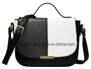 New Arrival Black/White Color Casual Lady Handbag (LY0238) pictures & photos
