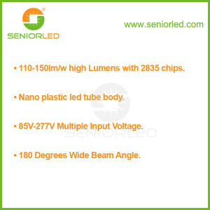 Nano Plastic 4FT 1200mm 18W LED Fluorescent Tube T8 pictures & photos