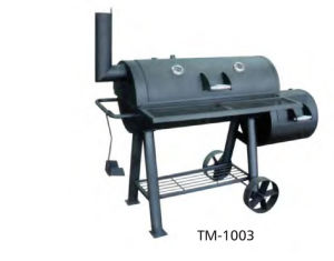 Chimney BBQ Smoker Grill with Wheels and Ash Tray pictures & photos