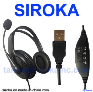 Micro USB Laptop Headphone for Skype & VoIP Phone pictures & photos