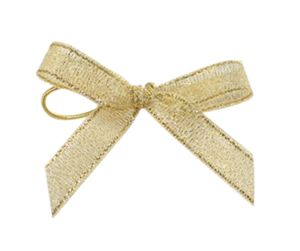 Mini Metalic Gold Gift Packing Bow for Small Box pictures & photos