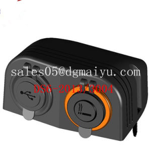 Two Hole Tent Socket Car Marine USB Charger Socket & Cigarette Socket Lighter Mounting Tent Socket for Auto Truck pictures & photos