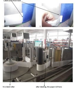 Adhesive Labeling Machine for Round Pet and Glass Bottle
