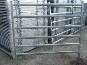 30X60mm Livestock Cattle Panel with Gates/Super Heavy Duty Livestock Cattle Yard Panels/Cattle Panels Factory/5 Bar Cattle Rail 1.6m High Cattle Panel