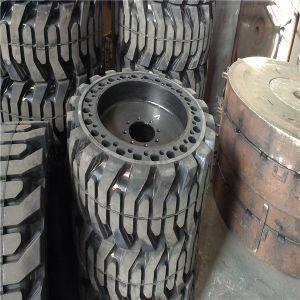 33X12-20 Solid Tyre with Web Type Skidsteer or with Rim Type pictures & photos