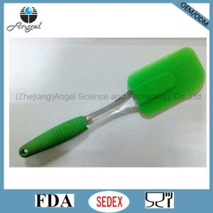 Wholesale Silicone Kitchen Utensil Cooking Spatula with PS Handle Ss05 (L)