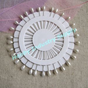 55mm White Teardrop Shaped Pearl Head Pins for Hijab (P160111F)