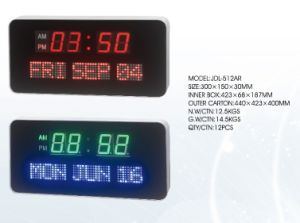 LED Calendar Clock with Day and Date pictures & photos