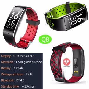 IP68 Waterproof Smart Bracelet with Bluetooth 4.0 Q8 pictures & photos