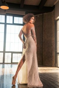 Retro Long Sleeves Bridal Gowns Detachable Tulle Train Wedding Dress G17248 pictures & photos