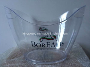 Transparent Plastic Ice Bucket pictures & photos