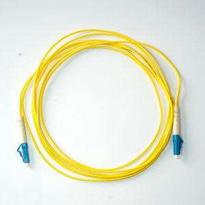 LC-LC PVC Jacket Simplex Single-Mode Fiber Optic Patch Cord pictures & photos