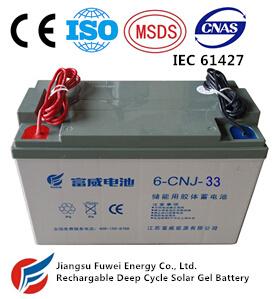 12V 33ah Solar Wind Energy Storage AGM Solar Battery