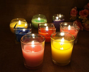 China Natural Color Glass Candle Holder for Aromatherapy pictures & photos