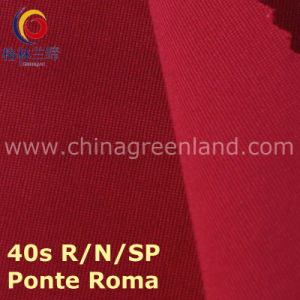 40s Rayon Nylon Spandex Ponte Roma Knitted Fabric for Textile Garment (GLLML213) pictures & photos
