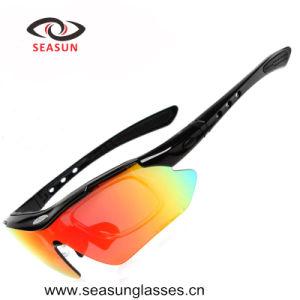 fashion Polarized 5 Lens Interchangeble Sports Sunglasses pictures & photos