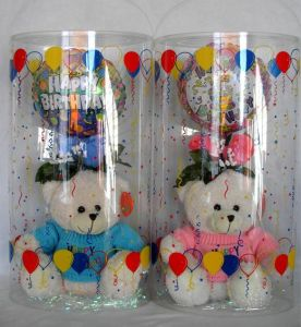 Plastic PVC cylinder box for christmas gift decoration pictures & photos