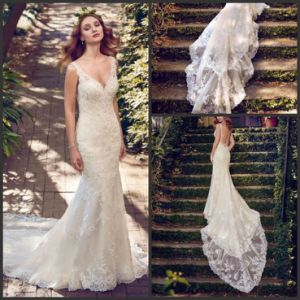 Beach Bridal Dress Sleeveless Lace Mermaid Wedding Gown Ld03 pictures & photos
