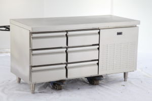 6 Drawers Commercial Stainless Steel Workbench Refrigerator pictures & photos