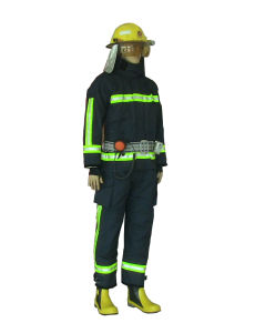 Personalized Fire Fighting Clothing Fire Suit with Reflective Tape pictures & photos
